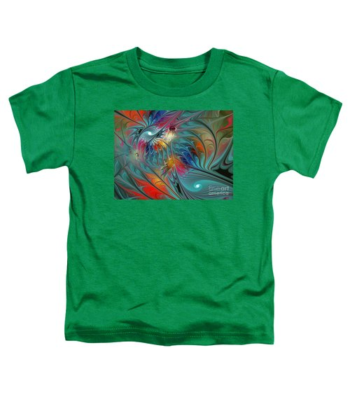 Fresh Mints And Cool Blues-abstract Fractal Art Toddler T-Shirt