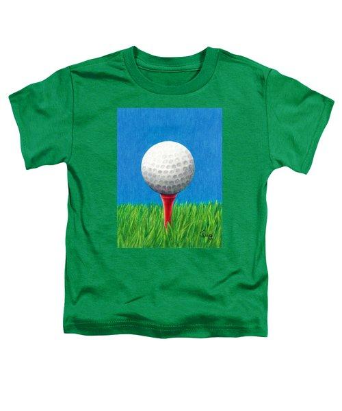 Golf Ball And Tee Toddler T-Shirt