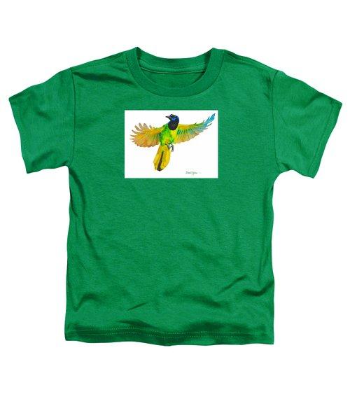 Da175 Green Jay By Daniel Adams Toddler T-Shirt
