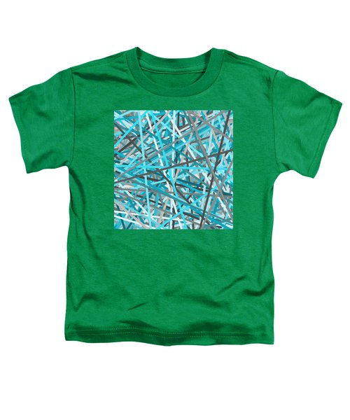 Link - Turquoise And Gray Abstract Toddler T-Shirt