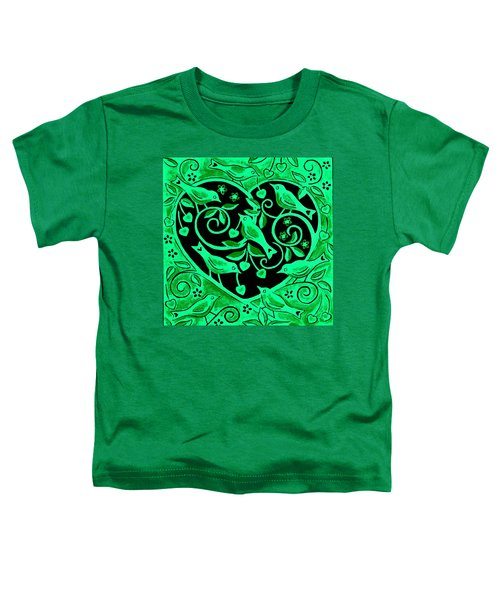 Love Birds, 2012 Woodcut Toddler T-Shirt by Nat Morley