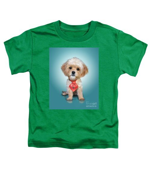 Mr. Toby Waffles The Cavapoo Toddler T-Shirt