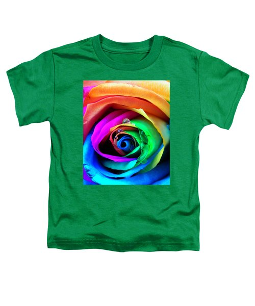 Rainbow Rose Toddler T-Shirt