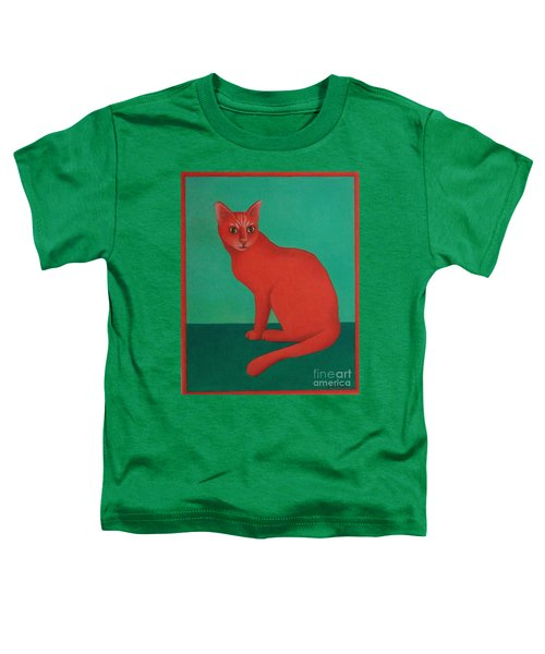 Red Cat Toddler T-Shirt