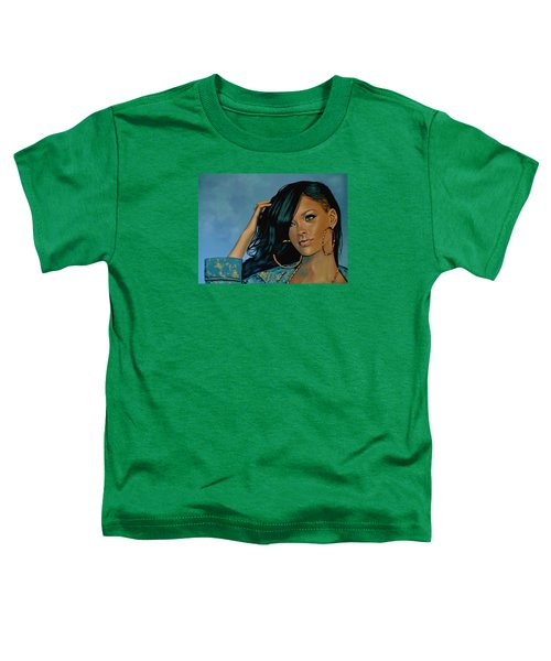 Rihanna Painting Toddler T-Shirt by Paul Meijering