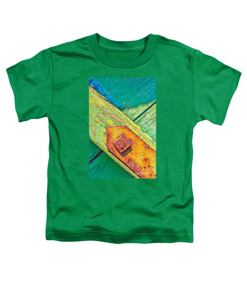 Rusty Bolt On Rotten Green Wood Toddler T-Shirt