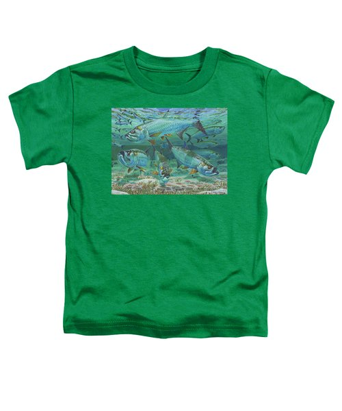 Tarpon Rolling In0025 Toddler T-Shirt by Carey Chen