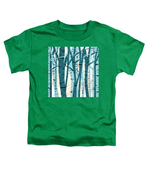 Turquoise Birch Trees Toddler T-Shirt