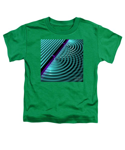 Waves Two Slit 3 Toddler T-Shirt