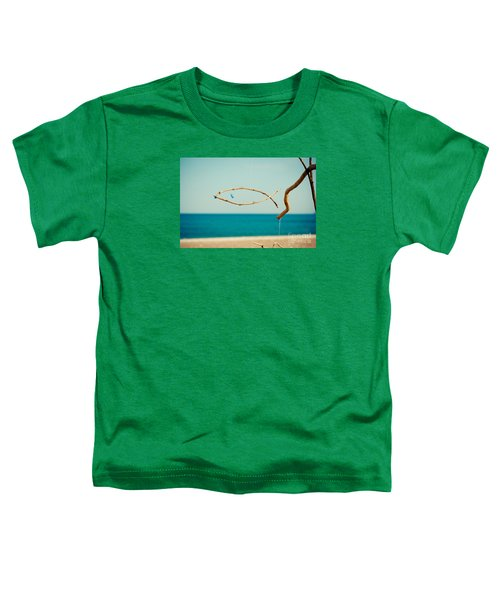 Nature Sculpture At Coast Seascape Artmif.lv Toddler T-Shirt