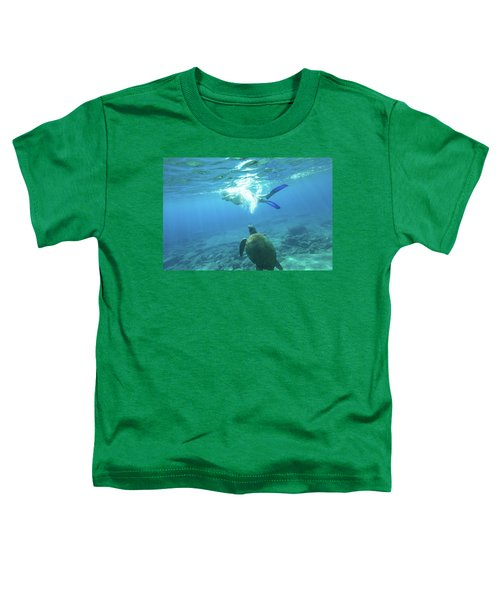 Snorkeler Female Sea Turtle Toddler T-Shirt