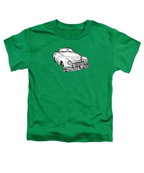 1948 Pontiac Silver Streak Convertible Illustration Toddler T-Shirt