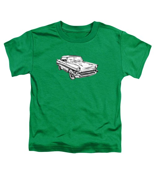 1957 Chevy Bel Air Illustration Toddler T-Shirt