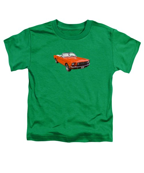 1965 Red Convertible Ford Mustang - Classic Car Toddler T-Shirt