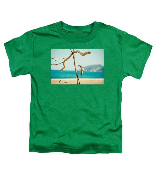 Nature Sculpture At Coast Seascape Artmif.lv Toddler T-Shirt