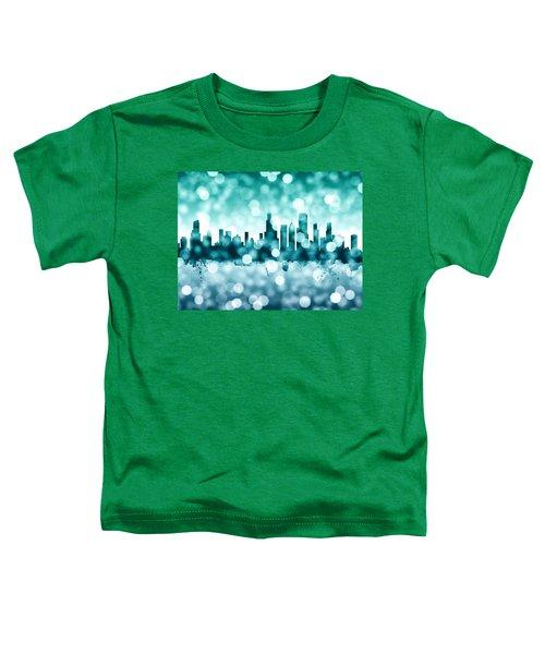 Chicago Illinois Skyline Toddler T-Shirt by Michael Tompsett