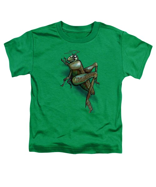 Grasshopper Toddler T-Shirt by Kevin Middleton