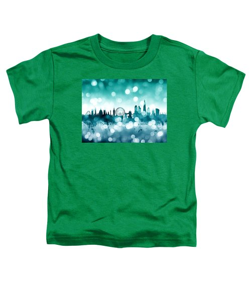 London England Skyline Toddler T-Shirt by Michael Tompsett