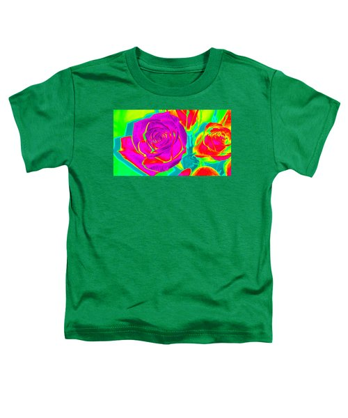 Blooming Roses Abstract Toddler T-Shirt