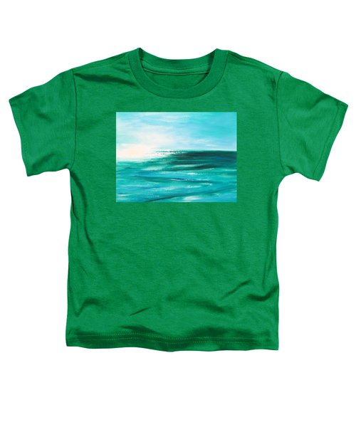 Abstract Sunset In Blue And Green 2 Toddler T-Shirt