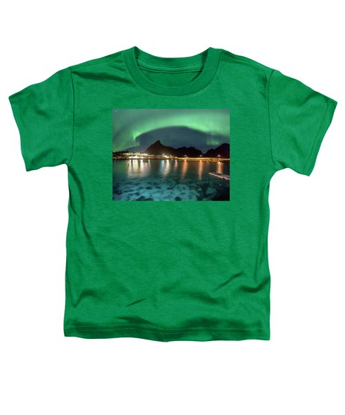 Aurora Above Turquoise Waters Toddler T-Shirt