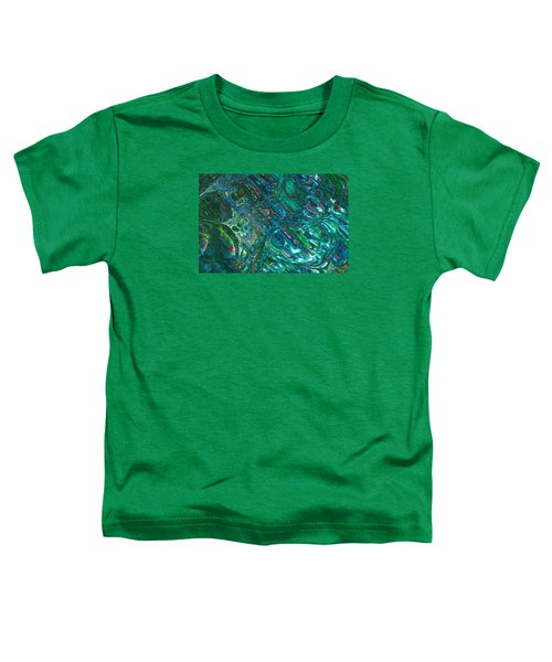 Blue Abalone Abstract Toddler T-Shirt