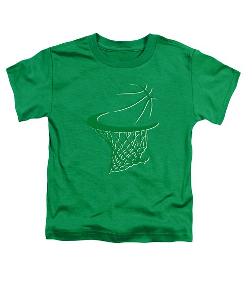 Celtics Basketball Hoop Toddler T-Shirt by Joe Hamilton