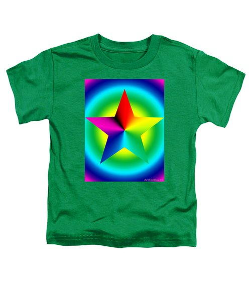 Chromatic Star With Ring Gradient Toddler T-Shirt
