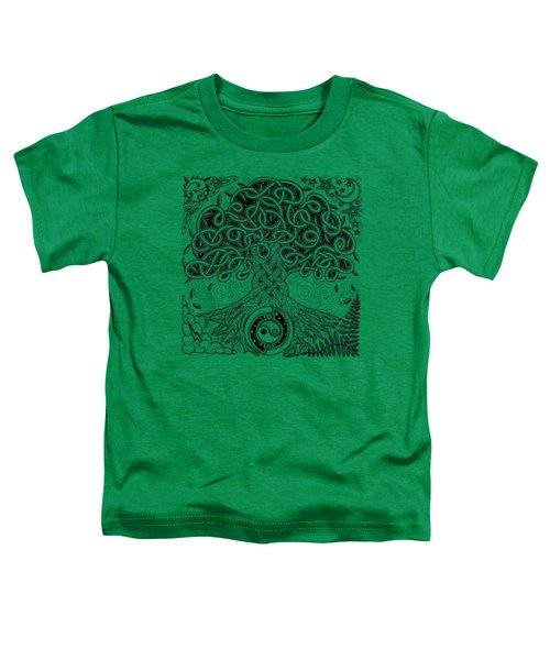 Circle Celtic Tree Of Life Inked Toddler T-Shirt