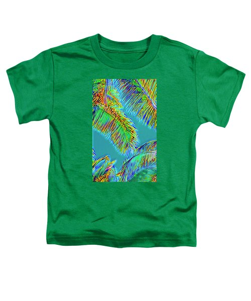 Coconut Palms Psychedelic Toddler T-Shirt