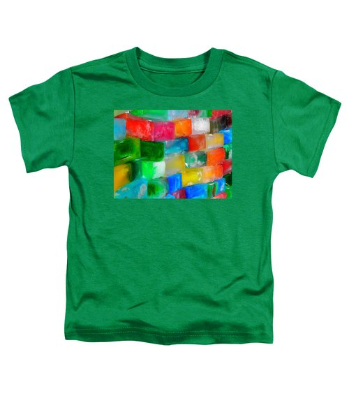 Colored Ice Bricks Toddler T-Shirt