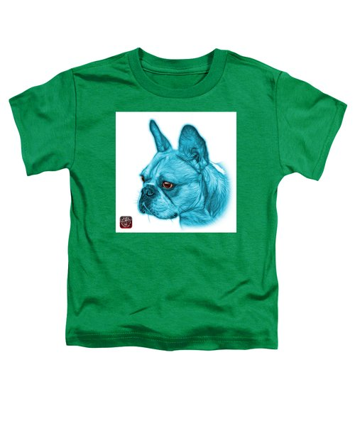 Cyan French Bulldog Pop Art - 0755 Wb Toddler T-Shirt