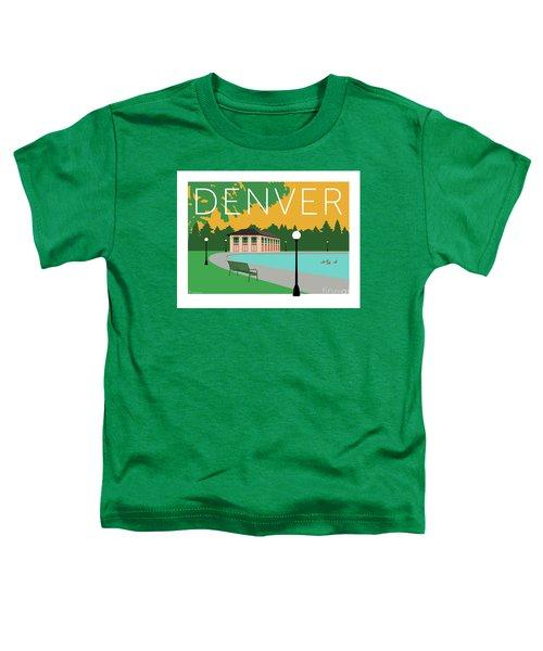 Denver Washington Park/gold Toddler T-Shirt