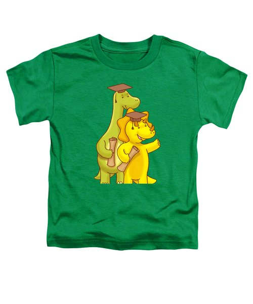 Dinosaur School Graduation Day Toddler T-Shirt by Paws Pals