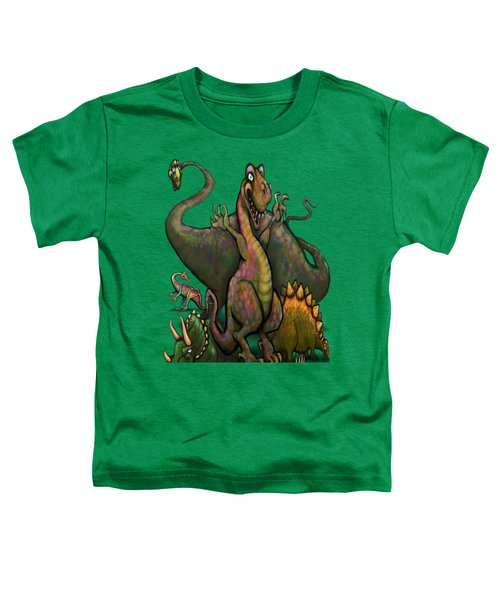 Dinosaurs Toddler T-Shirt by Kevin Middleton