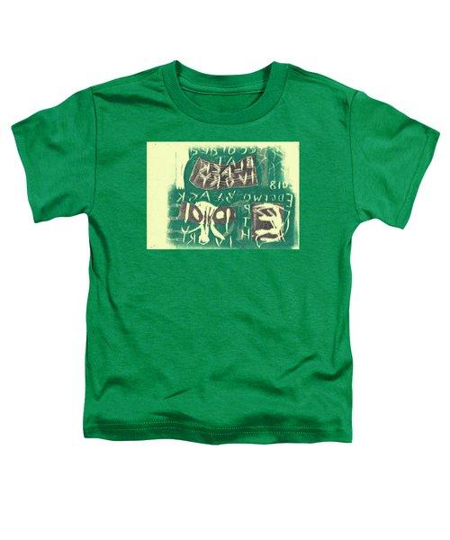 E Cd Grey And Green Toddler T-Shirt
