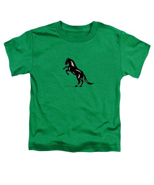 Emma - Pop Art Horse - Black, Hazelnut, Greenery Toddler T-Shirt