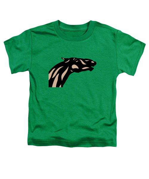 Fred - Pop Art Horse - Black, Hazelnut, Emerald Toddler T-Shirt