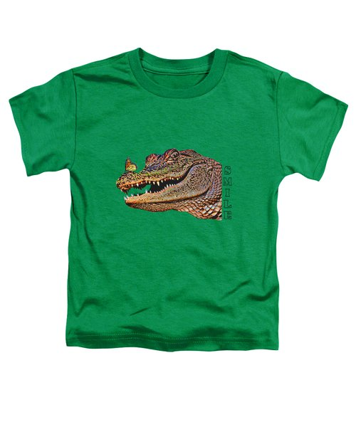 Gator Smile Toddler T-Shirt by Mitch Spence