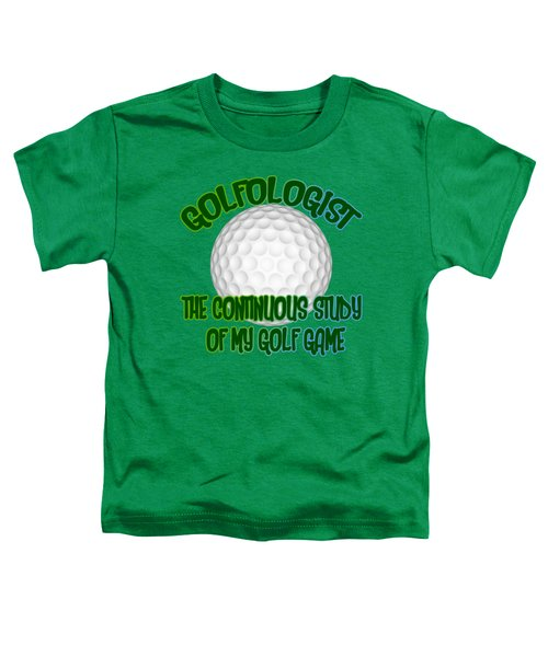 Golfologist Toddler T-Shirt by David G Paul