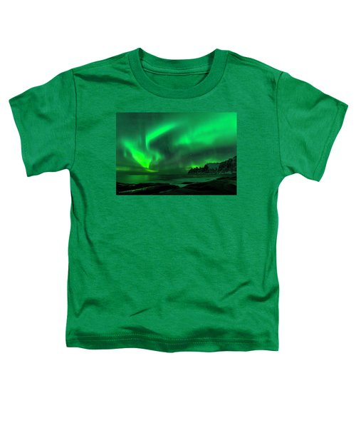 Green Skies At Night Toddler T-Shirt