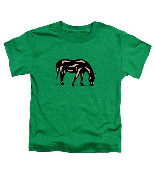 Hazel - Pop Art Horse - Black, Hazelnut, Greenery Toddler T-Shirt