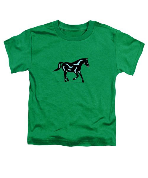 Heinrich - Pop Art Horse - Black, Island Paradise Blue, Greenery Toddler T-Shirt