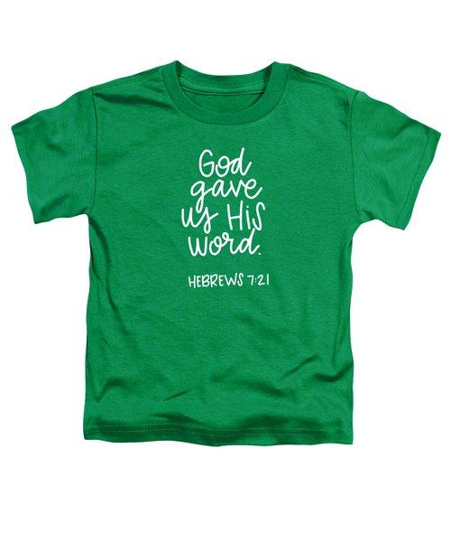His Word Toddler T-Shirt