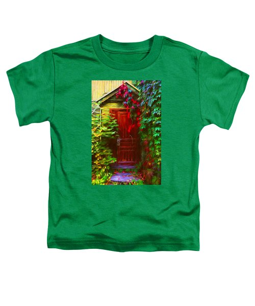 Ivy Surrounded Old Outhouse Toddler T-Shirt