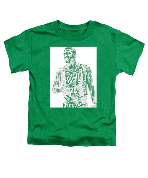 Kyrie Irving Boston Celtics Pixel Art 7 Toddler T-Shirt