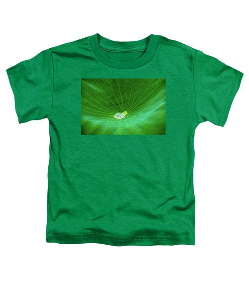 Leaf Cupping A Giant Water Drop Toddler T-Shirt