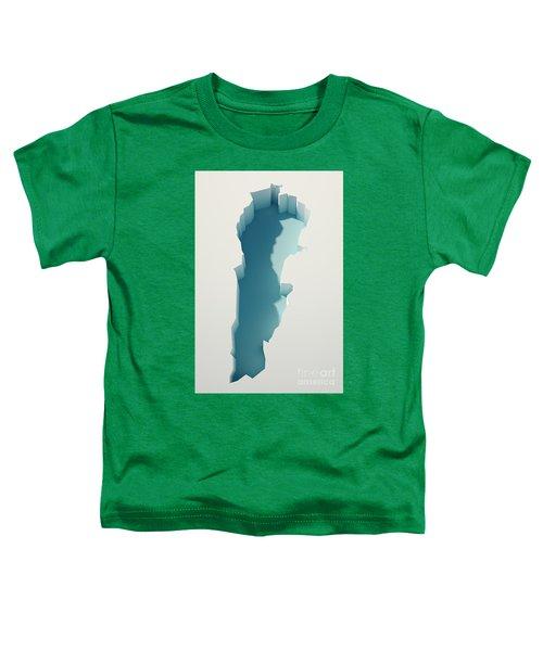 Lebanon Simple Intrusion Map 3d Render Toddler T-Shirt