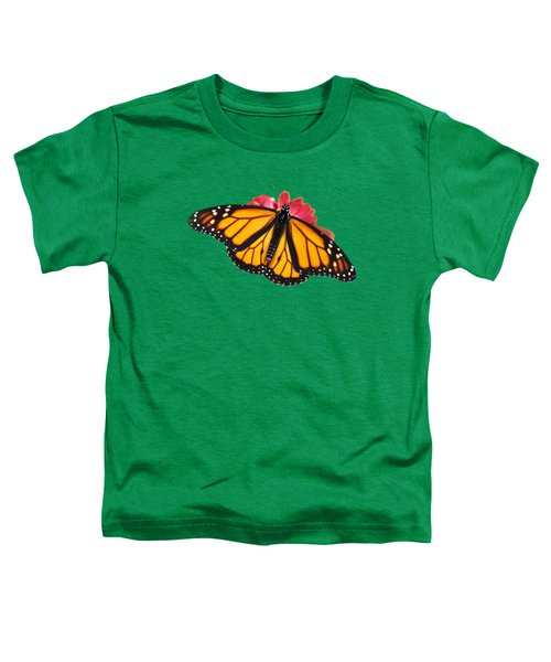 Monarch Butterfly On Red Mums Toddler T-Shirt
