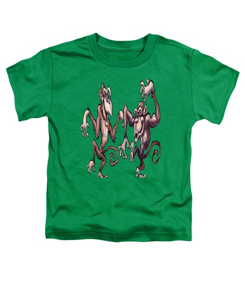 Monkey Dance Toddler T-Shirt by Kevin Middleton